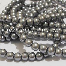 Перли керамічний, 6 мм, сріблясто-сірий (20 шт)