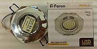 Встраиваемый  светильник Feron 8020 MR16 (цвет корпуса серебро с LED подсветкой)