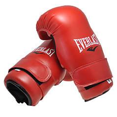 Перчатки Everlast KungFu,ММА,Тхеквондо,DX,Flex красные EVDX355-SR