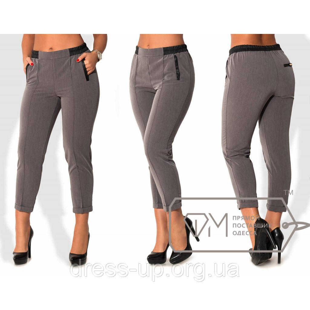 Купить брюки серые