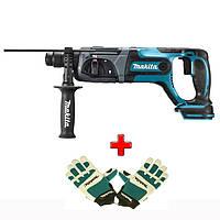 Аккумуляторный перфоратор Makita DHR 241 Z + защитные перчатки (без АКБ), DHR241Z988000809