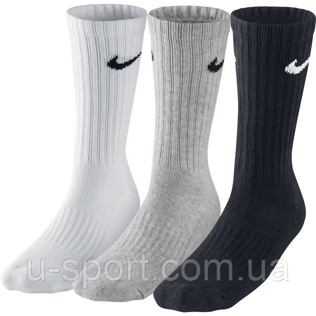 Носки Nike 3PPK Value Cotton Crew - Интернет-магазин мячей U-sport.com.ua в Киеве