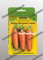Семена на ленте морковь Московская зимняя 5м