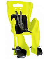 Сиденье заднее Bellelli Little Duck Clamp детское до 22кг неоново-желтое с черной подкладкой (Hi Vision)