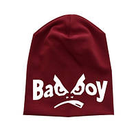 """Шапка подросток """"Bad boy"""""""
