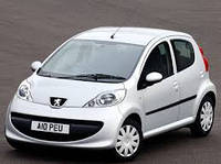 Накладки на пороги Peugeot 107 5D (2005+)