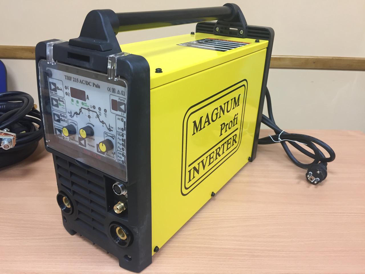 Апарат аргонно дуговой сварки MAGNUM THF 215 PULSE AC/DC