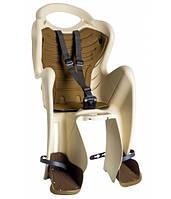 Сиденье заднее Bellelli Mr Fox Сlamp (на багажник) до 22кг бежевое с коричневой подкладкой