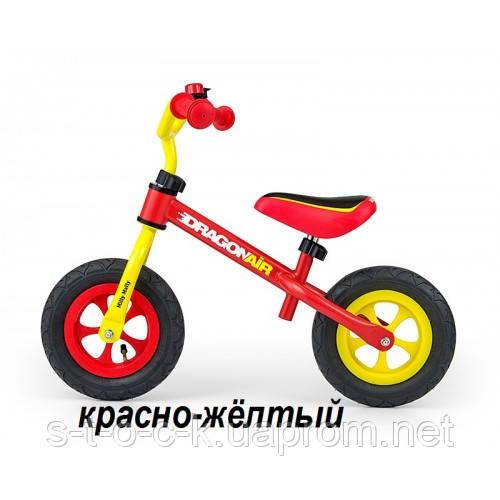 """MillyMally. Беговел Dragon Air на надувных 10"""" колеса. Цвет: красно-жёлтый"""