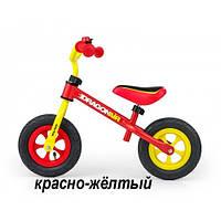 "MillyMally. Беговел Dragon Air на надувных 10"" колеса. Цвет: красно-жёлтый, фото 1"