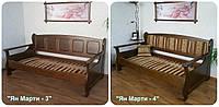 """Офисный диван из серии """"Ян Марти"""" (200*90). Массив - ольха. Покрытие - """"лесной орех"""" (№ 44)."""
