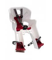 Сиденье переднее Bellelli Rabbit B-fix детское до 15кг белое с красной подкладкой