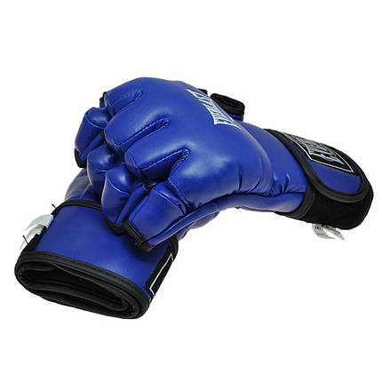 Рукопашные перчатки винил Everlast синие EVDX364-B, фото 2