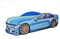Кроватка машина Тесла синяя