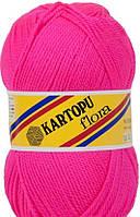 Пряжа для ручного вязания Kartopu Flora (акрил) яркая фуксия