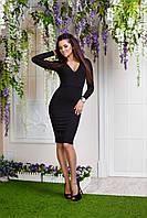 Прилегающее платье с V-образным вырезом - NV385