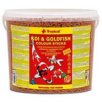 Tropical Koi & Gold Color Sticks корм для прудовых рыб улучшение окраса, в палочках, 11 л, фото 1