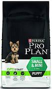 ProPlan OptiStart Small&Mini Puppy 3 кг для щенков мелких пород с курицей