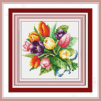 Набор для рисования камнями (холст) Тюльпаны LasKo