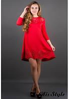 Стильное женское красное платье Летисия Olis-Style 44-52 размеры