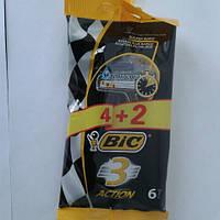 Станок мужской одноразовый BiC 3 Action 5+1 шт. Бик 3 экшин Оригинал