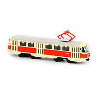 Трамвай инерционный металлический