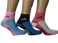 Носки женские  спорт  Adidas средней высоты пр-во Турция