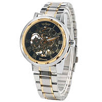 Механические наручные часы,скелетон, Winner Skeleton, м-004/bg