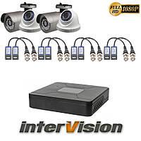 Комплект видеонаблюдения KIT-2241DWA: 4 цифровые видеокамеры 2.1 Mp Sony Exmor + видеорегистратор