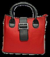 Оригинальная женская сумочка из качественной искусственной кожи красного цвета VUV-555381