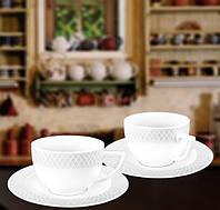 Набор: Кофейная чашка 90мл и блюдце 6 пар Wilmax от Юлии Высоцкой WL-880107-JV