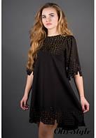 Молодежное женское черное платье Айви Olis-Style 44-52 размеры