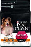 Pro Plan Medium Adult Sensitive Skin для собак средних пород с чувствительной кожей с лососем