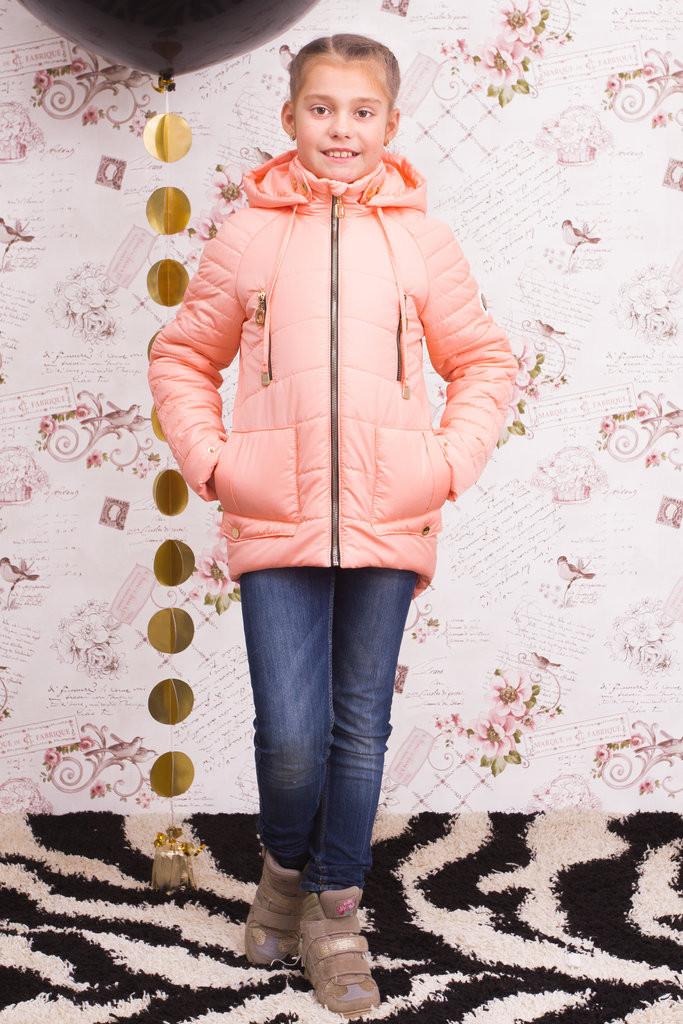 """Демисезонная куртка для девочки """"Джессика"""" персик"""