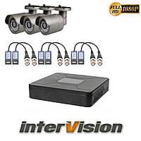 Комплект видеонаблюдения KIT-341W: 3 цифровые видеокамеры 2.1 Mp Sony Exmor + видеорегистратор