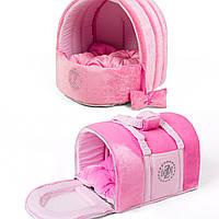 Сумка переноска и лежак для собак и котов Zoom Zoom Zoo Pussy розовый