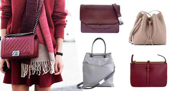 Кожаные женские сумки и клатчи