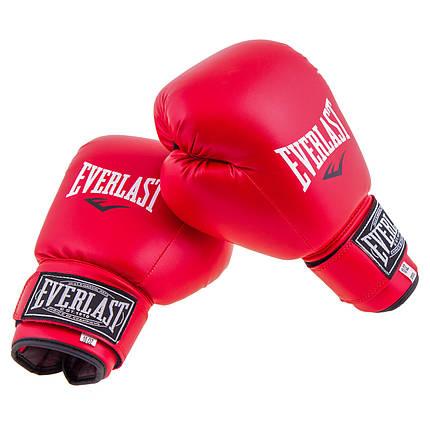 Боксерські рукавички DX Everlast червоні м'які EVDX380-6R, фото 2