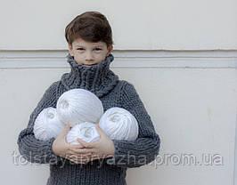 Свитер из толстой пряжи для мальчика