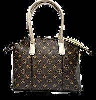 Женская сумочка с орнаментом из искусственной кожи белые ручки LLU-000888