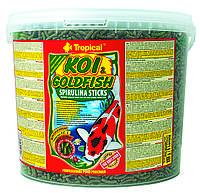 Tropical Koi & Gold Spirulina Sticks корм для прудовых рыб в палочках, 21 л, фото 1