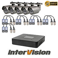 Комплект видеонаблюдения KIT-541W: 5 цифровых видеокамер 2.1 Mp Sony Exmor + видеорегистратор