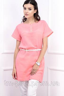 Сукня вільного силуету льон