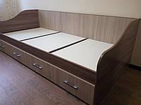 """Кровать одинарная с ящиками(без матраца 0,9*2,0) детская """"Город"""",ф-ка """"SV Мебель"""""""