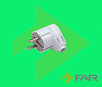 Вилка с заземлением L-образная FAR  F128