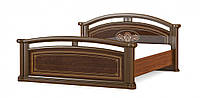 Двуспальная кровать, в классическом стиле с красивым дизайном. Модель Алабама, фабрики Мебель-Сервис