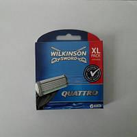 Кассеты мужские для бритья Wilkinson Sword (Schick) Quattro 6 шт. ( Шик Вилкинсон квадро), фото 1