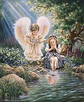 """Набор алмазной вышивки  """"Ангелы у ручья"""""""