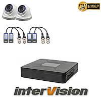 Комплект видеонаблюдения KIT-DOME 241: 2 цифровые видеокамеры 2.1 Mp Sony Exmor + видеорегистратор