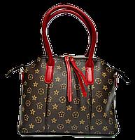 Женская сумочка с орнаментом из искусственной кожи красные ручки LLU-000998